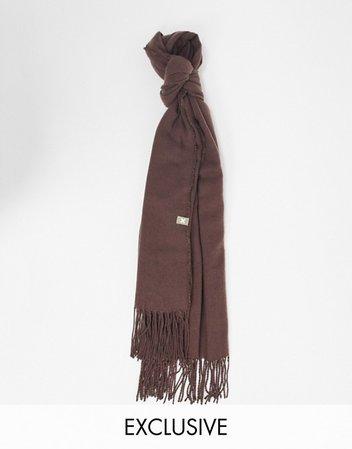 COLLUSION Unisex scarf in dark brown | ASOS