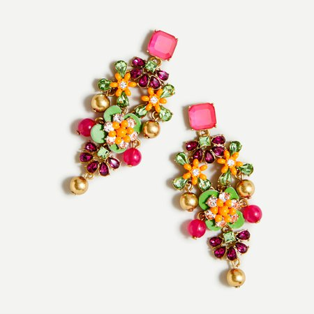 J.Crew: Stone Drop Statement Earrings For Women