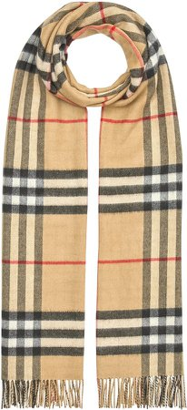 Giant Check Oversize Reversible Cashmere Scarf