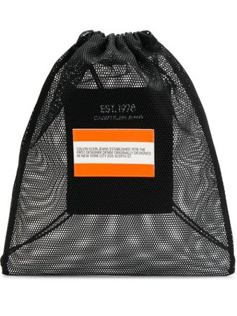 Calvin Klein Jeans Est. 1978 Logo Drawstring Backpack J90J900189 Black | Farfetch