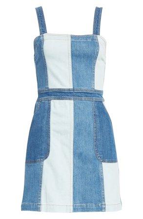 Alice + Olivia Jamiee Denim Minidress blue