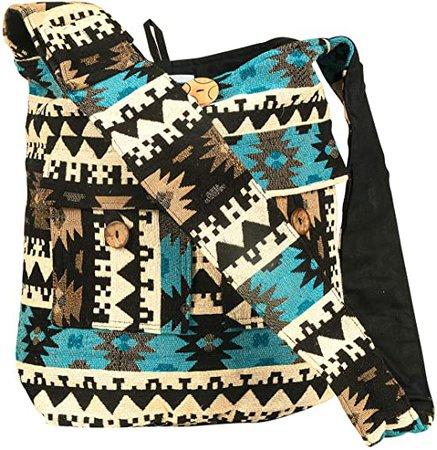 Tribe Azure Large Blue Quilted Hobo Shoulder Bag Crossbody Sling Beach Travel