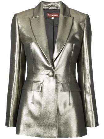 Shop gold Alexa Chung metallic blazer with Express Delivery - Farfetch