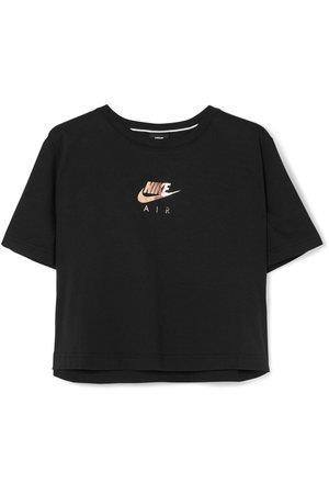 Nike | Cropped printed cotton-jersey T-shirt | NET-A-PORTER.COM