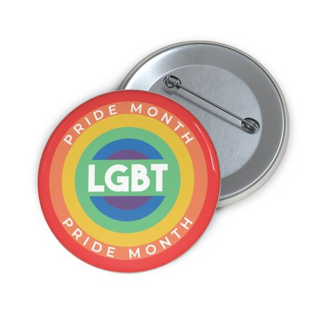 LGBT Pride Month LGBT Pride Pin Button Perfect Gift | Etsy