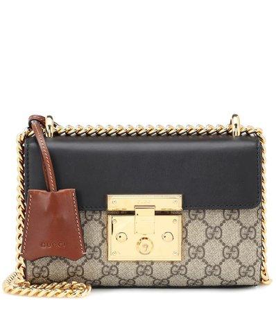 Padlock Gg Supreme Leather And Coated Canvas Shoulder Bag - Gucci |