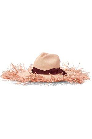 Sensi Studio | Frayed grosgrain-trimmed toquilla straw hat | NET-A-PORTER.COM