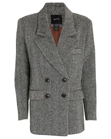 Smythe Herringbone Double-Breasted Wool Blazer   INTERMIX®