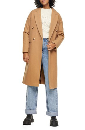 Topshop Brooke Double Breasted Long Coat   Nordstrom