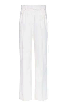 Colette Pant High-Rise Pleated Pants by Piece of White | Moda Operandi