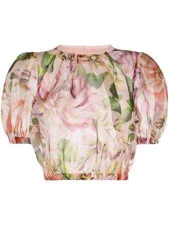 Dolce & Gabbana Top Corto Con Motivo Floral - Farfetch