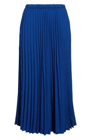 Halogen® Pleated Midi Skirt (Regular & Petite) | Nordstrom