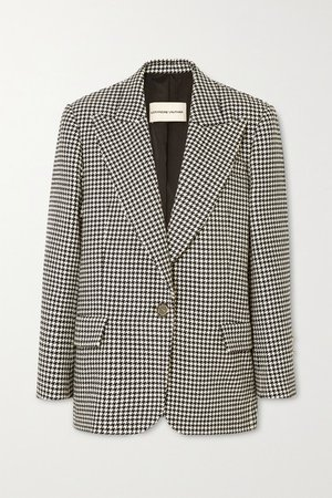 Alexandre Vauthier   Houndstooth cotton-blend blazer   NET-A-PORTER.COM