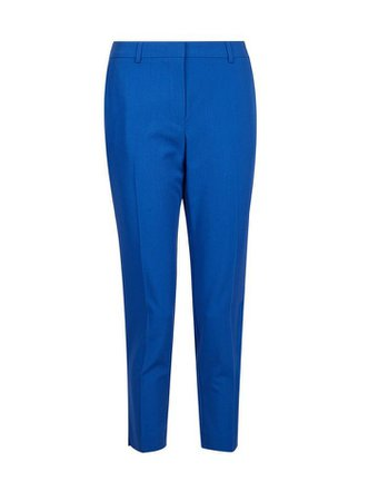 Petite Cobalt Naples Ankle Grazer Trousers | Dorothy Perkins