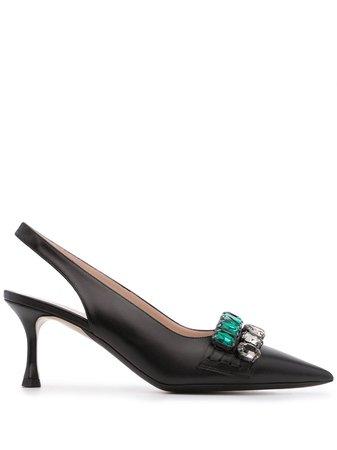 Nº21 crystal-embellished slingback pumps - FARFETCH