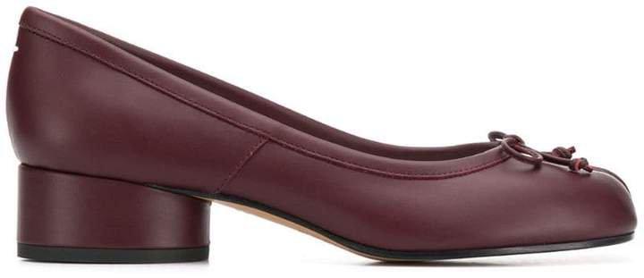 Tabi leather ballerina pumps
