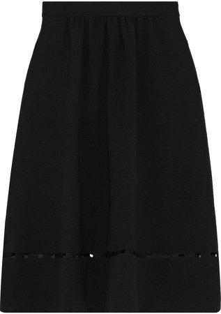 Carmen Cutout Crepe Skirt