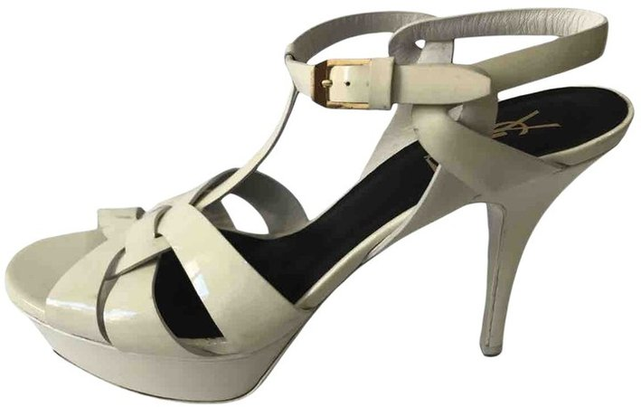 Tribute White Patent leather Sandals