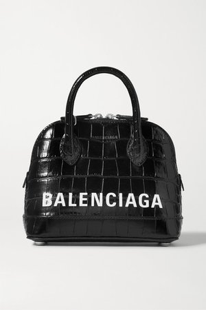 Balenciaga   Ville XXS AJ printed croc-effect leather tote   NET-A-PORTER.COM