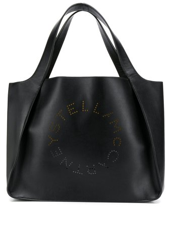 Stella McCartney Stella Logo tote black 502793W8542 - Farfetch