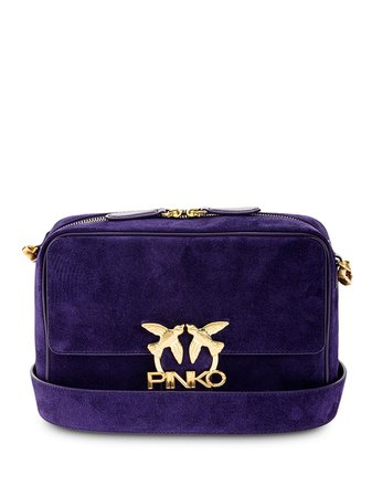 Shop purple Pinko logo-plaque crossbody bag with Express Delivery - Farfetch