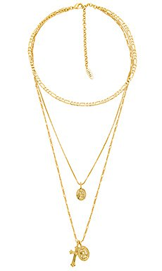 Luv AJ x REVOLVE The Double Coin Charm Necklace in Gold | REVOLVE