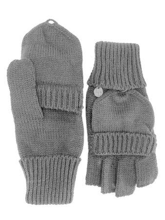 Knit Fingerless Gloves With Mitten Cover – Luxury Divas