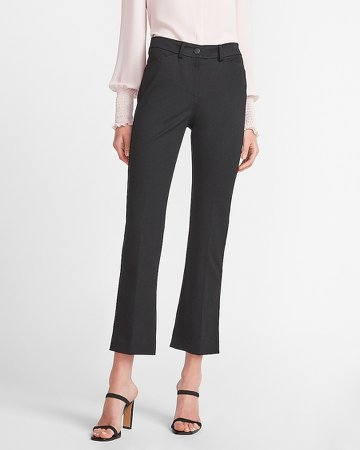 High Waisted Cropped Flare Pant