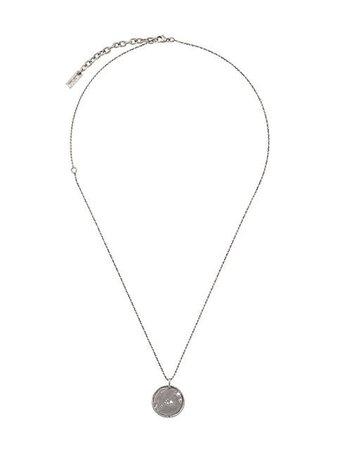 Saint Laurent Star Coin Necklace