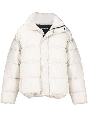 Balenciaga BB oversized-fit puffer jacket 642228TYD36 - Farfetch