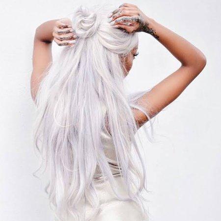 bright white nordic white hair - Google Search