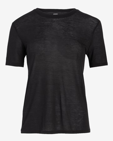 Relaxed Crew Neck Tee | Express