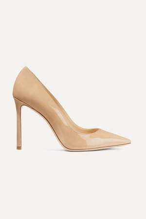 Sand Romy 100 patent-leather pumps | Jimmy Choo | NET-A-PORTER