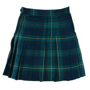 green plaid skirt png