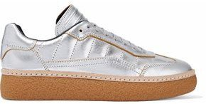Metallic Quilted Leather Sneakers
