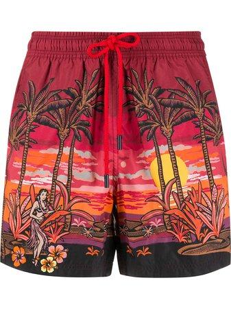 Etro Palm Tree Print Swim Shorts Ss20 | Farfetch.Com