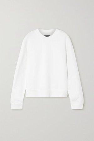 Emilia Cotton-jersey Sweatshirt - White