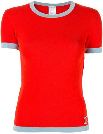 PRE-OWNED CC Short Sleeve Tops