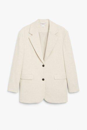 Oversized blazer - Beige - Blazers - Monki WW