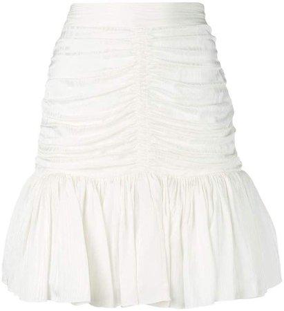 draped mini skirt