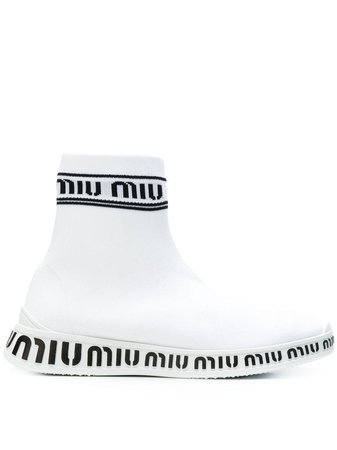 sock white logo sneakers