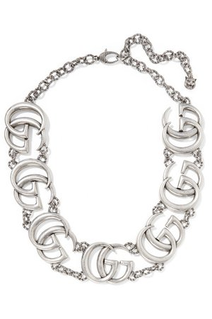 Gucci | Silver-plated necklace | NET-A-PORTER.COM