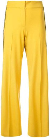 embroidered grosgrain side trousers
