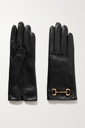Gucci | Horsebit-detailed leather gloves | NET-A-PORTER.COM
