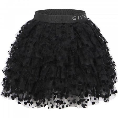 Givenchy Ruffled Polka Dot Dress in Black - BAMBINIFASHION.COM