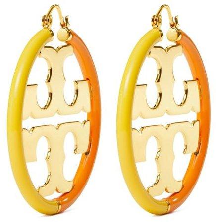 Miller Enamel Hoop Earring