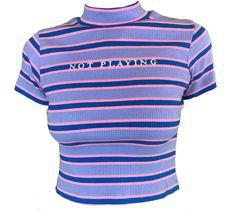 purple blue striped top