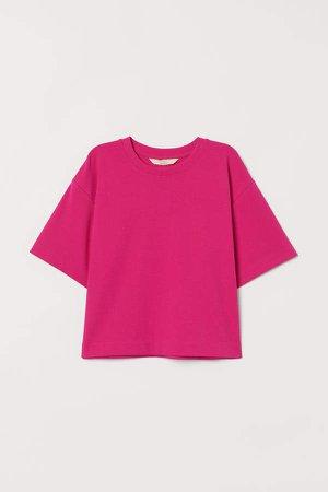 Boxy Pima Cotton T-shirt - Pink