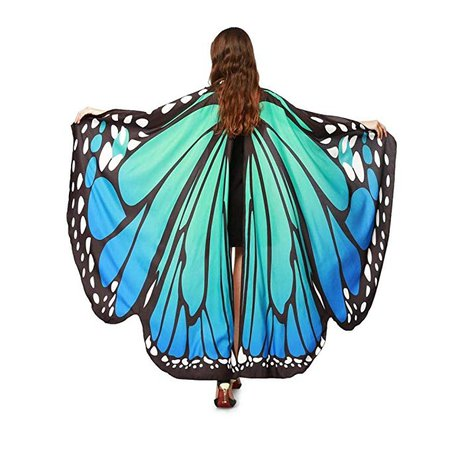 Amazon.com: Shireake Baby Halloween/Party Prop Soft Fabric Butterfly Wings Shawl Fairy Ladies Nymph Pixie Costume Accessory …: Clothing