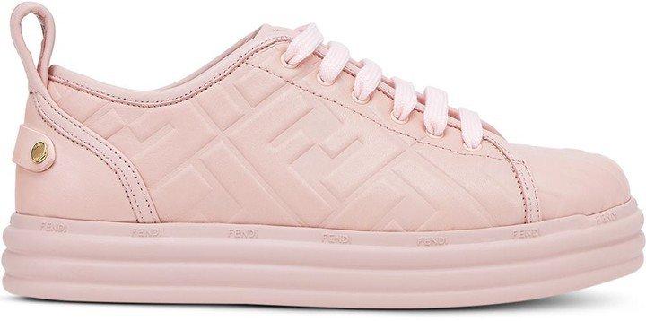 Embossed Monogram Low-Top Sneakers